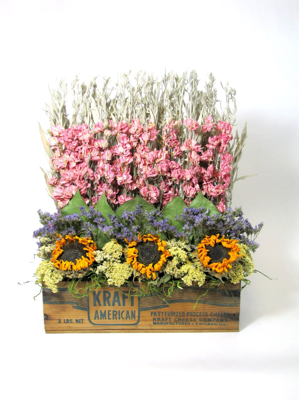 dried floral arrangement stacked flower arrangement decor. Black Bedroom Furniture Sets. Home Design Ideas