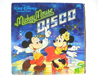 CLEARANCE Mickey Mouse Disco Record: Vintage 1970s Disney