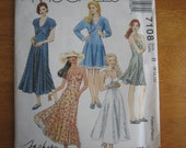 McCALL'S Pattern 7108 Misses' Unlined Bolero and Dress In Two Lengths 1994 Uncut