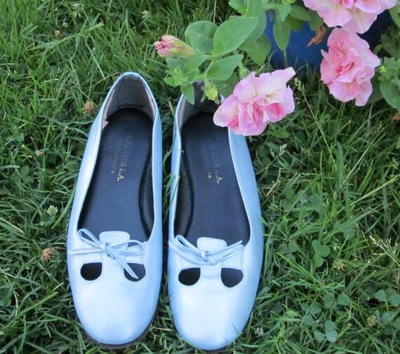 Vintage shimmer ballet flats 6.5