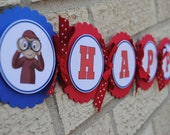 NEW - Curious George Happy Birthday Banner