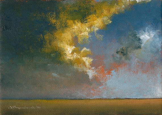 Home Sky Storm - Original Oil Painting by Seminary Road Artists