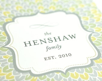 Family Name & Established Date Art Print / Choose your Colors / 8x10 / Typography Wall Art Poster