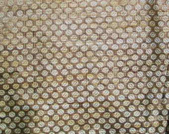 Fat quarter Beige and Gold Indian silk brocade fabric with small dots