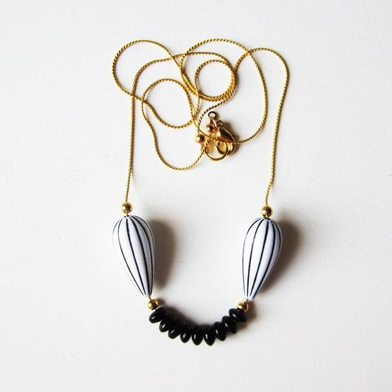 Last one - Black smile necklace