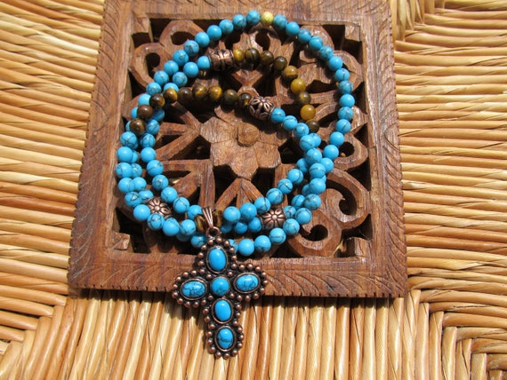 Faith & Blessings- inspirational crystal gemstone 108 bead mala necklace-boho yoga zen prayer beads
