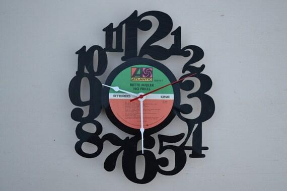Vinyl Record Album Wall Clock (artist is Bette Midler)