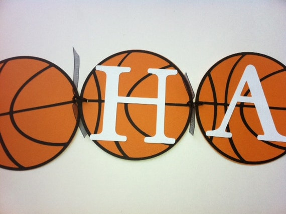 Basketball Party Banner Sports Birthday Theme