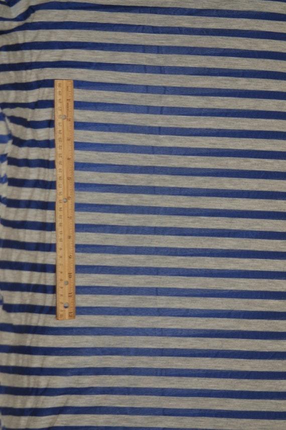 HPF 8084 2.25 yards super-chic heathered grey and indigo striped rayon/modal/bamboo knit