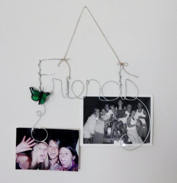 Friends Wall Hanging Photo Holder Wire Picture Frame Collage