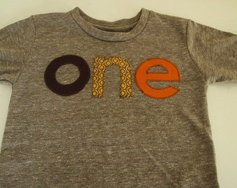 Fall colors brown orange yellow Birthday shirt Customize colors Boys Girls Organic Blend Birthday Tee first second