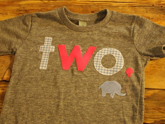 Hot pink Elephant Tshirt Birthday shirt Customize colors hot pink light blue and white gingham girls zoo theme