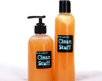 Clean Stuff - 8 oz Squeeze Bottle Sulfate & Paraben Free Naturally Derived All Over Wash Handcrafted To Order Just For You