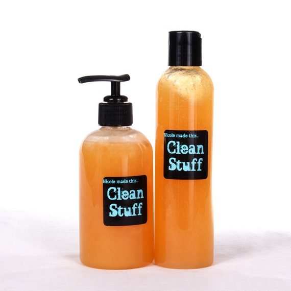 Clean Stuff - 16 oz Squeeze Bottle Sulfate & Paraben Free Naturally Derived All Over Wash Handcrafted To Order Just For You