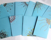 Pastel Blue Hand Drawn Greeting Cards Robin's Egg blue - Pack of FIVE ASSORTED cards- Envelopes included