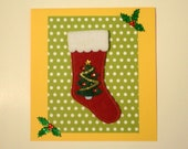 Holiday Card - Stocking and Holly