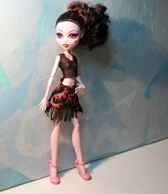 Hot Pink Fire Outfit for Monster High Dolls