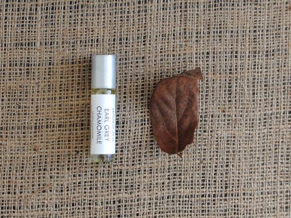Earl Grey Chamomile Perfume Oil, Roll On Perfume Bergamot Orange Tea Fragrance