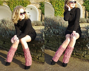 Pink Knitted Legwarmers