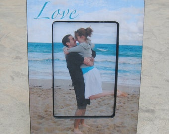 Unique Engagement Gift, Personalized Picture Frame, Custom Wedding Picture Frame, Love, Valentine's Day Gift, Boyfriend Gift, Collage Frame