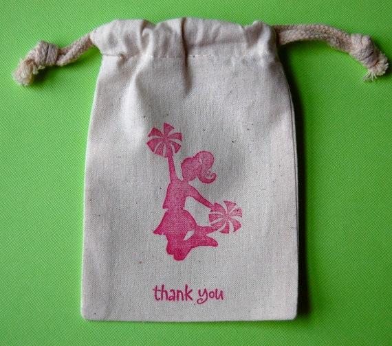 Cheerleader Favor Bags / Set of 12 / Cheerleading Gift Bags