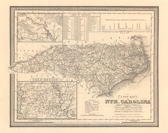 1848 Map of North Carolina