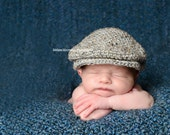 Newborn hat -- drivers cap, scally cap, seamus, golfer hat -- great photo prop