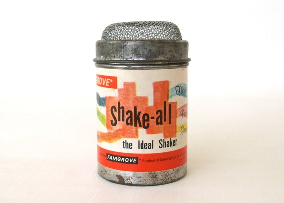 Small Canister Fairgrove Salt Pepper Shake All Spice Container Tin Steel Metal