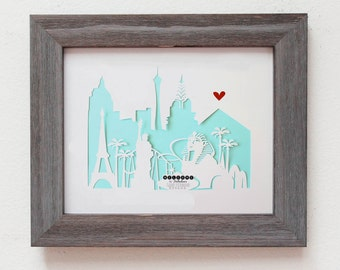Las Vegas, Nevada 11x14 - Personalized Gift or Wedding Gift