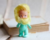Strange and Weird Colorful Beardy doll - Dwarf in Yellow and Green