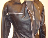 Leather biker dress