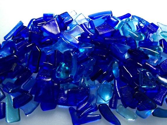 Bottle Glass Chips Kiln Fired, Mosaic size 1/2 Pound (B112)