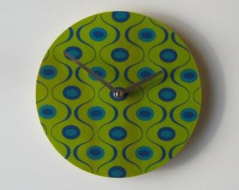 "Objectify ""Green Waves"" Wall Clock"