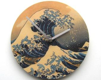 Objectify Great Wave of Kanagawa Wall Clock