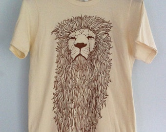Of Might and Mane - Lion Illustration T Shirt