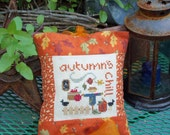 Autumn's  Chill Hanging Pillow Shelf Tuck Door Warmer
