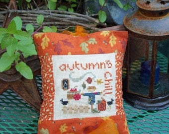 Autumn's  Chill Hanging Pillow Shelf Tuck Door Warmer