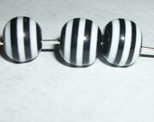 Black and White Striped Beads