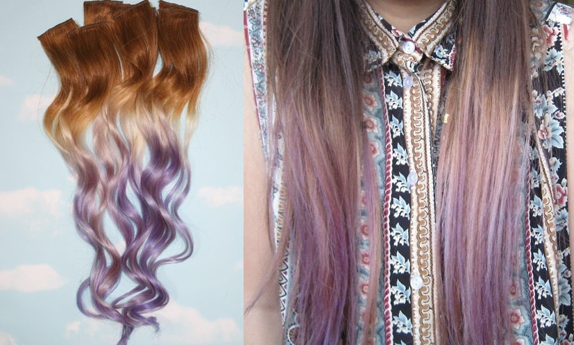 Handmade brown blonde auburn blonde ombre dip dyed hair zoom pmusecretfo Image collections