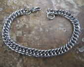 "8"" 5mm Wide Stainless Steel Double Curb Chain Charm Bracelets w/ Lobster Clasps - AWESOME Silver Alternative - CCB08-64LC"