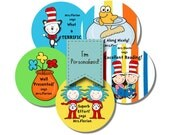 Cat in The Hat Personalized stickers for Teachers