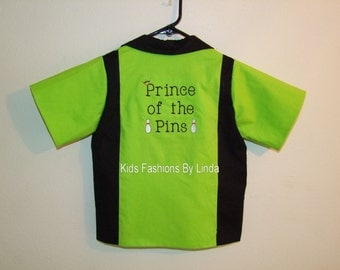 Black/Lime Prince of the Pins Bowling Shirt