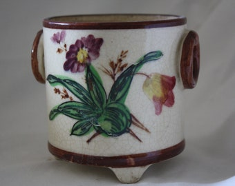 Vintage Decorative Pettite Ceramic Floral Planter
