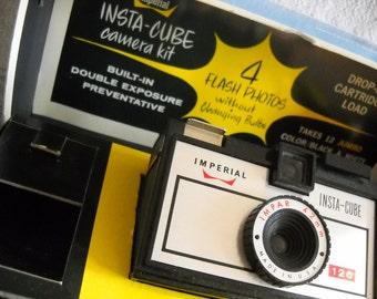 Midcentury Imperial Insta-Cube Camera and Original Box