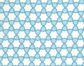 17001  Annette Tatum Bohemian  Collection Clover in Teal color- 1 yard