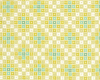 36106  Erin McMorris Weekends Hopscotch in Lime color- 1 yard