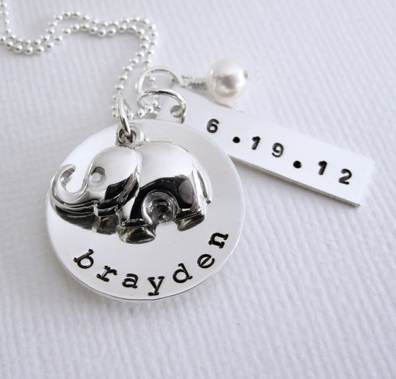New Baby New Mom Personalized Necklace By Patriciaannjewelry