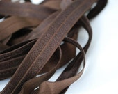 5/8 inch Fold Over Elastic - 5 Yards  Coffee Brown