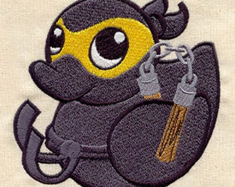 RESERVED for Anita - 3x Ninja Ducky Embroidered Patches