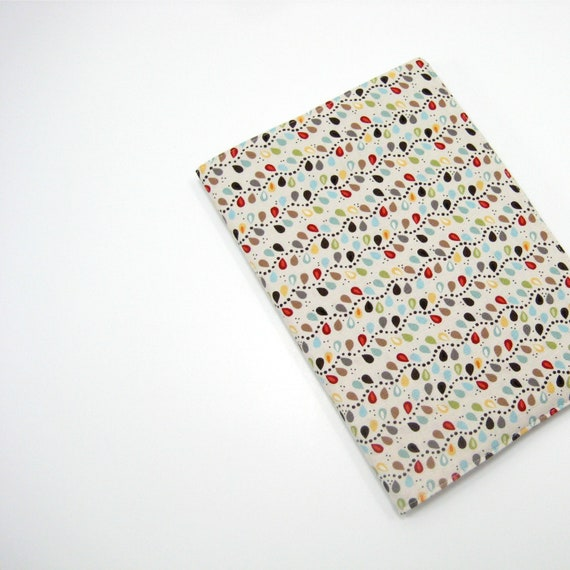 A5 diaries, neutral brown red blue fabric covered notebook, handmade journal covers, greengrass on Etsy